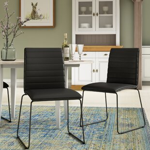 Ribbed Upholstered Dining Chair (Set Of 2) By 17 Stories