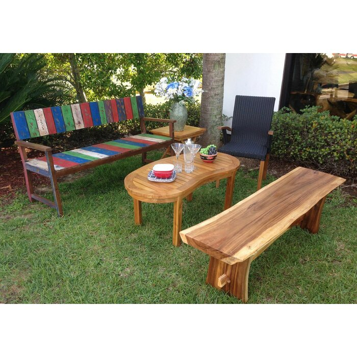 Swell Efren Live Edge Slab Wooden Picnic Bench Evergreenethics Interior Chair Design Evergreenethicsorg