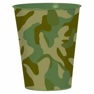 Camouflage Plastic Disposable Every Day Cup (Set of 15)