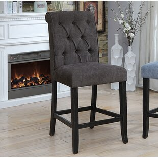 Tomasello Counter Height Upholstered Dining Chair (Set of 2) by Darby Home Co