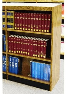 Single Face Shelf Standard Bookcase W.C. Heller