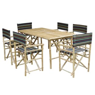 Koda 7 Piece Solid Wood Dining Set by Bay Isle Home