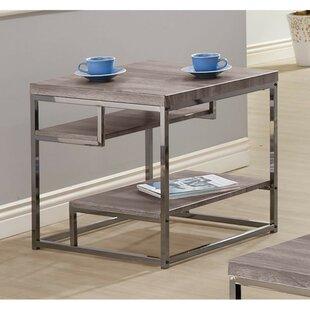 Nazareth Contemporary Wooden Metallic End Table