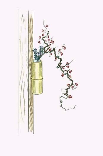 Buyenlarge Tsuru Umemodoki And Rindo Staff Vine And Gentian In A