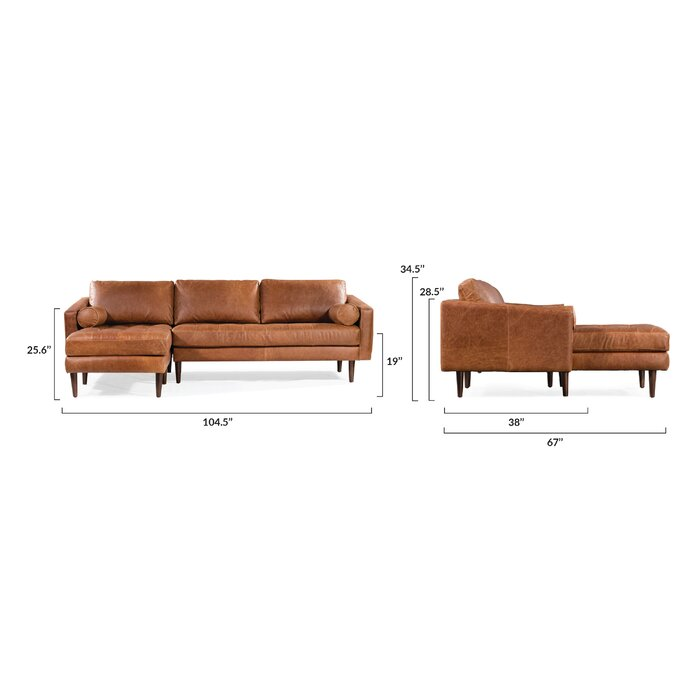 Sensational Kate Leather Sectional Pabps2019 Chair Design Images Pabps2019Com