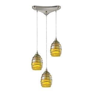 Angelika Modern 3-Light Pendant by Bloomsbury Market