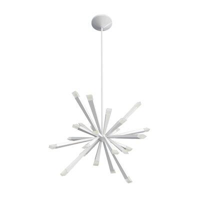 Starburst 24-Light LED Sputnik Chandelier Blackjack Lighting Finish: White