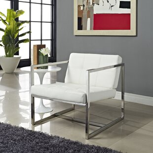 Kenacia Upholstered Vinyl Lounge Chair with Cushion