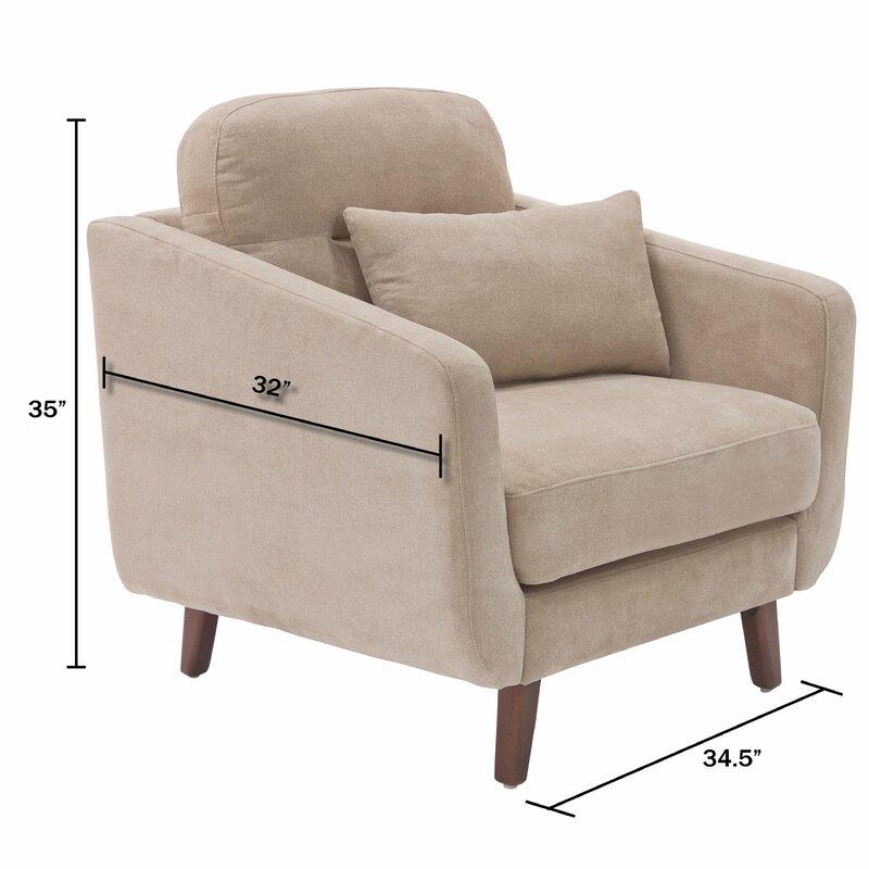 Chloe Mid Century Modern Armchair