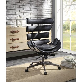 Hutchison Wingback Executive Chair by 17 Stories Great price