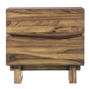 Best Reviews Omak Wooden 2 Drawer Nightstand by Williston Forge