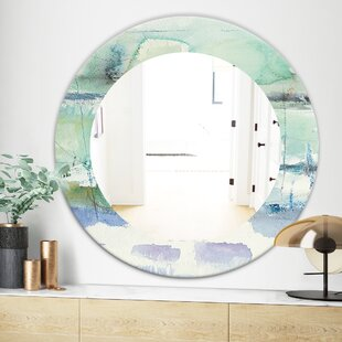 Abstract Panel I Wall Mirror by East Urban Home