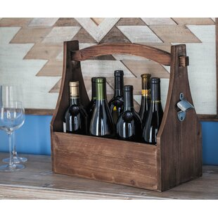 Crume Wood 8 Tabletop Wine Bottle Rack