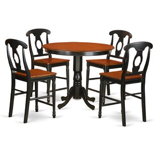 Trenton 5 Piece Counter Height Pub Table Set Best #1