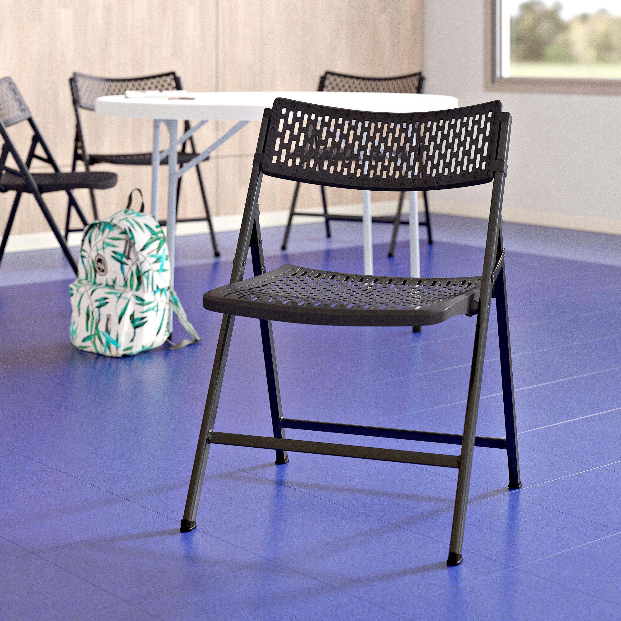Symple Stuff Hayfield Premium Plastic Folding Chair Wayfair
