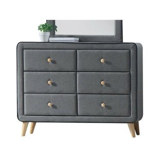 Maone Upholstery 6 Drawer Double Dresser