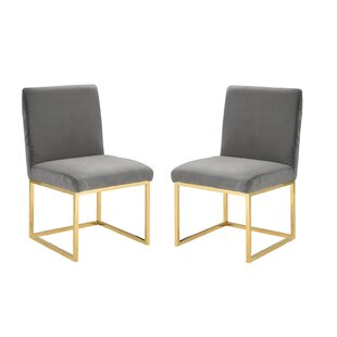 Affordable Huerta Upholstered Dining Chair (Set of 2) by Mercer41 Reviews (2019) & Buyer's Guide