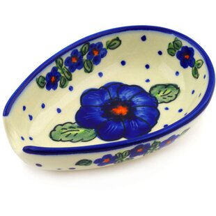 Clearance Polish Pottery 5 Spoon Rest By Polmedia
