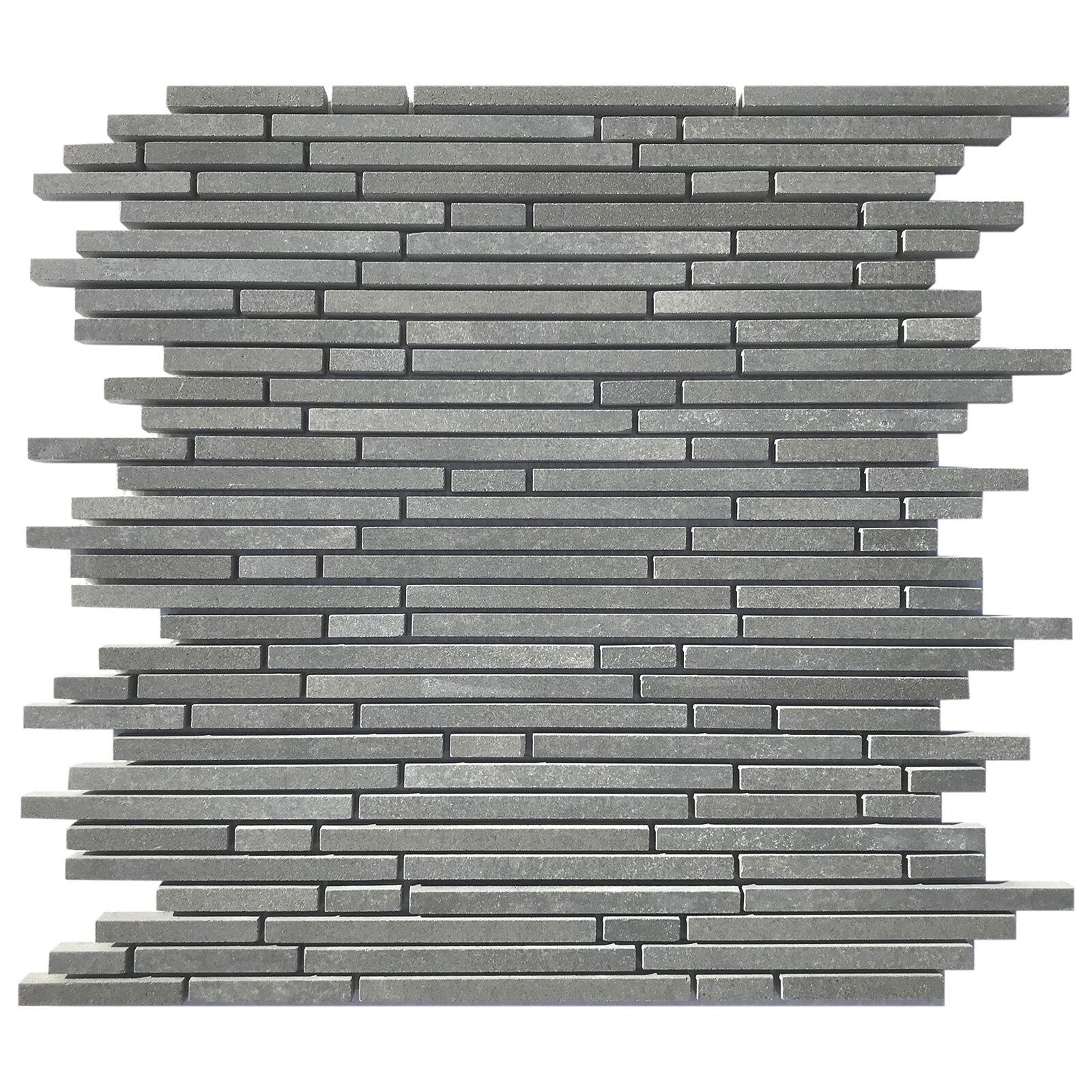Parvatile Lava Random Strips Random Sized Stone Mosaic Basalt Tile Wayfair