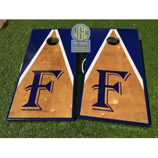 West Georgia Cornhole Half and Half Triangle 10 Piece Cornhole Set