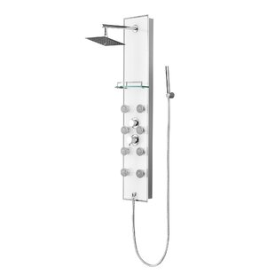 Reviews Pressure Balanced Rain Shower Head Shower Panel By Luxier