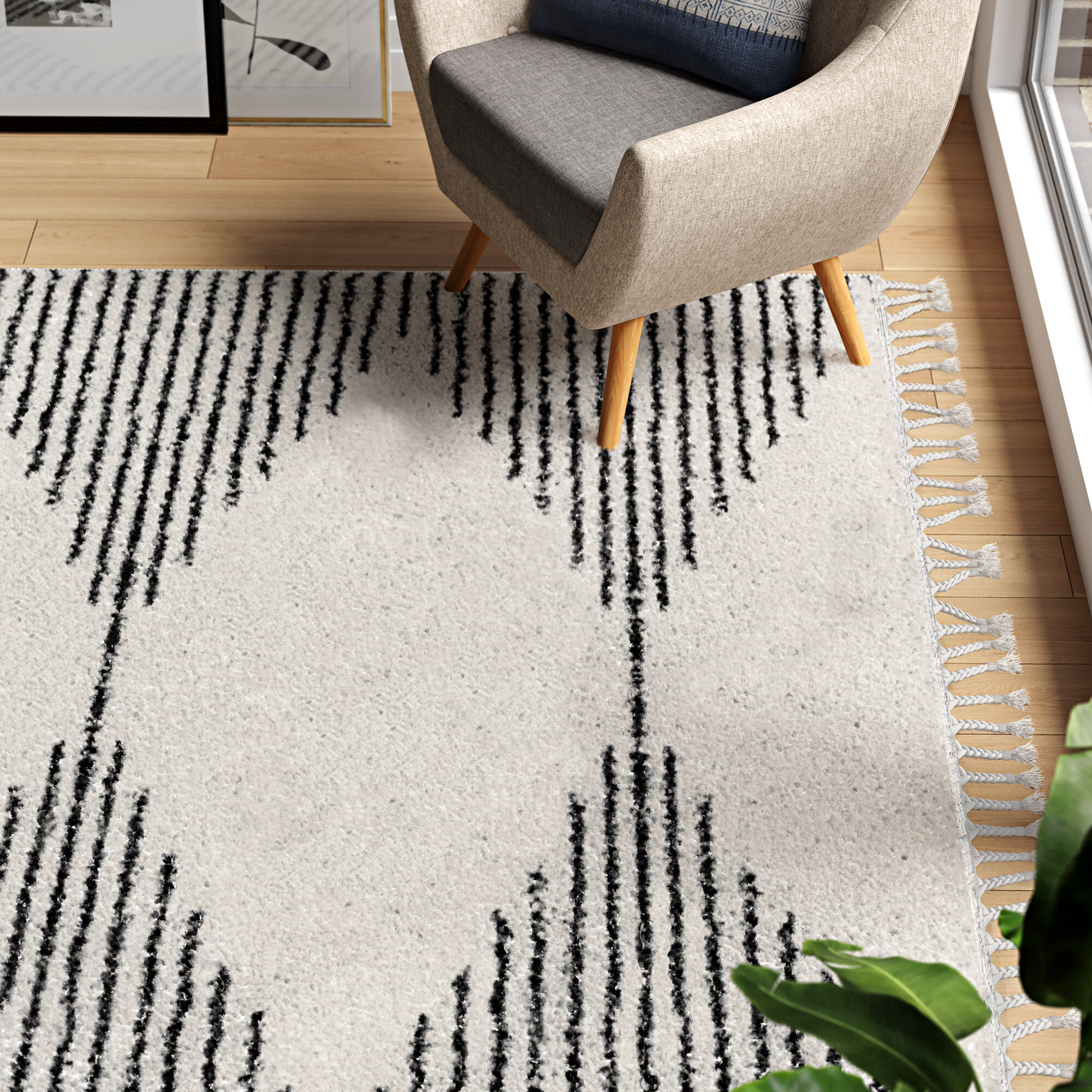 Picture of: Modern Navy White Area Rugs