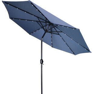 9' Lighted Umbrella by Trademark Innovations