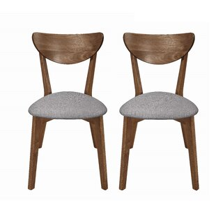 Fortunato Side Chair in Natural Walnut Set of 2 by George Oliver