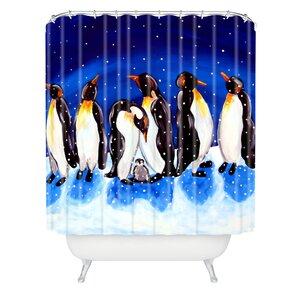 Renie Britenbucher Penguin Party Shower Curtain