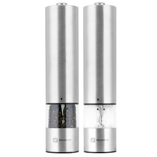 Electric 2 Piece Salt and Pepper Grinder Set By Zelancio