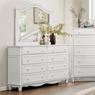 Alberta 8 Drawer Double Dresser With Mirror