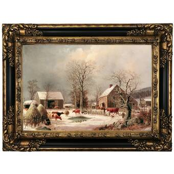 The Holiday Aisle Winter Cardinals By Kim Norlien Picture Frame Graphic Art Print On Paper Reviews Wayfair