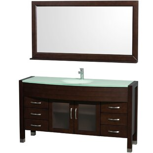 Daytona 60 Single Espresso Bathroom Vanity Set with Mirror