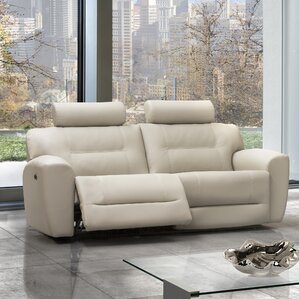 Devin Leather Reclining Sofa