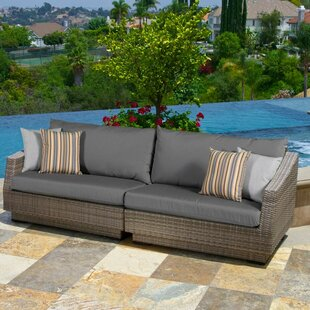 Wade Logan Castelli Sofa with Sunbrella Cushions