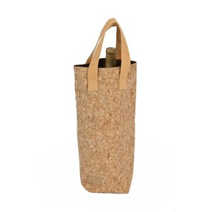 Cork Tote Single Bottle Carrier
