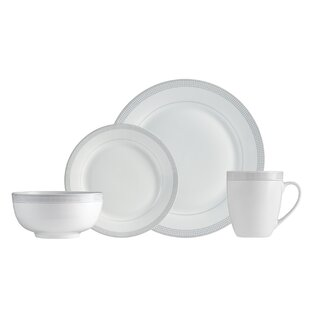 Barrick Dot 16 Piece Dinnerware Set, Service for 4