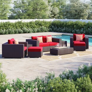 Brentwood 8 Piece Rattan Sectional Set with Cushions