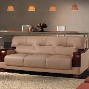 Shop Tourmaline Leather Sofa by Hokku Designs