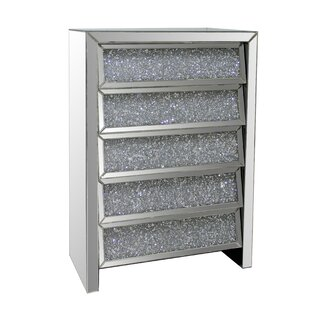 Looking for 5 Drawer Crystal Mirror Chest By Best Quality Furniture