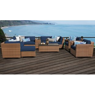 Rosecliff Heights East Village 12 Piece Sectional Set with Cushions