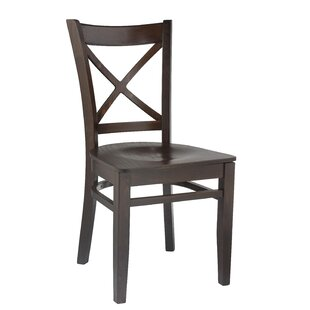 Winston Porter Easthampton Crossback Solid Wood Side Chair (Set of 2)