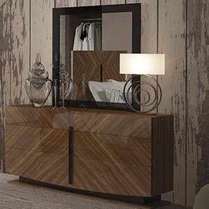 Alers 6 Drawer Double Dresser with Mirror by Brayden Studio
