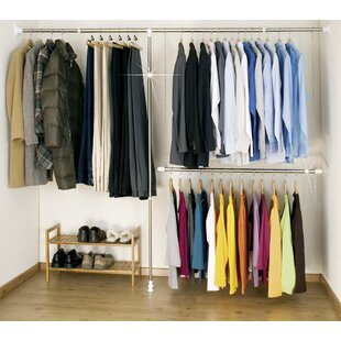 Extandable 250cm Wide Clothes Storage System & Clothes Rails u0026 Wardrobe Systems | Wayfair.co.uk