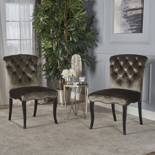 Binning Armless Upholstered Dining Chair (Set of 2)