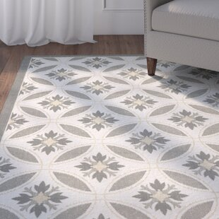 Compare Short Light Grey/Anthracite Indoor/Outdoor Area Rug ByWinston Porter