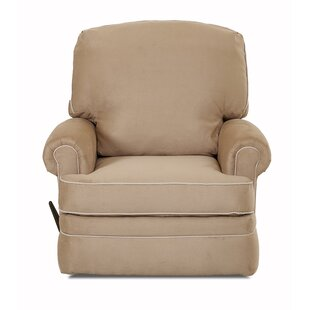 Compare prices Dauphin Swivel Gliding Recliner by Darby Home Co