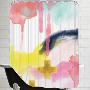 Amy Brinkman Abstract Single Shower Curtain