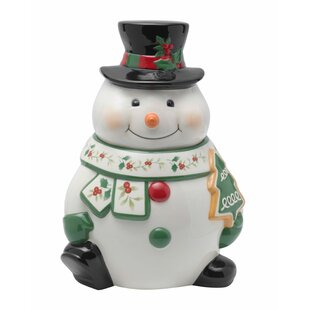 Winterberry Snowman Cookie Jar