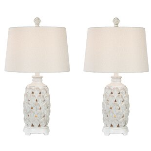 Resendez Shell Coastal 25 Table Lamp (Set of 2)